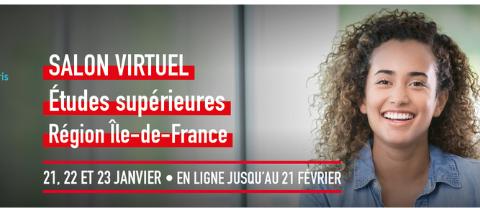 Venez nous rencontrer au salon virtuel Études supérieures en Île-de-France de l'Étudiant