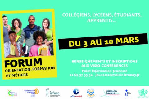 Forum orientation, formation et métiers de la ville de Brunoy : une édition 100% digitale